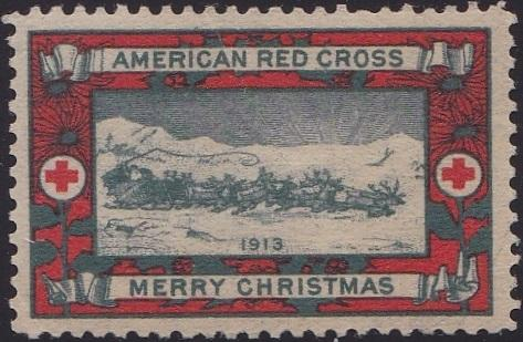1913 type 1 US Christmas Seal, Scott #WX11