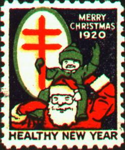 1920 type 1 Christmas Seal