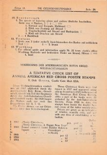 Dick Green US Christmas Seal List Published in 1925