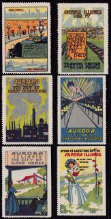 Poster Stamps, Aurora, IL.