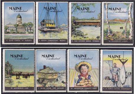 Poster Stamps, Maine #9-16