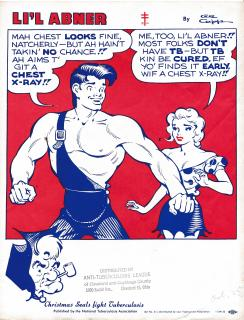 1955 Li'l Abner Poster by Al Capp, for National Tuberculosis Assn