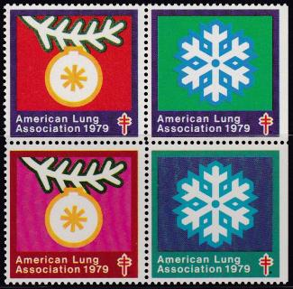 1979 Snowflake Christmas Seal Design Experiment