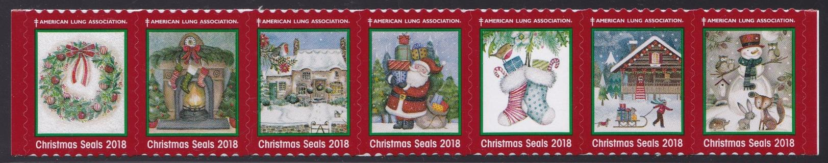 2018 US Christmas Seal issued by the American Lung Association