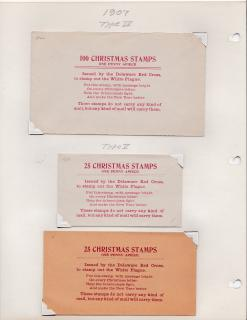1907 Red Cross Christmas Seal Booth Envelopes