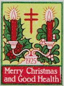 1925 type 1 Christmas Seal