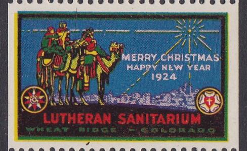 1924 Wheat Ridge US Local TB Christmas Seal - Type One