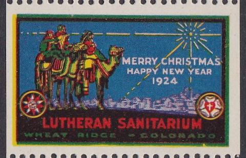 1924 Wheat Ridge US Local TB Christmas Seal - Type Two