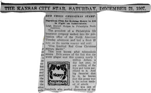 1907 Kansas City Star Christmas Seal Article