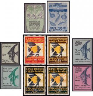 Early European Tropical Fish Event Poster Stamps