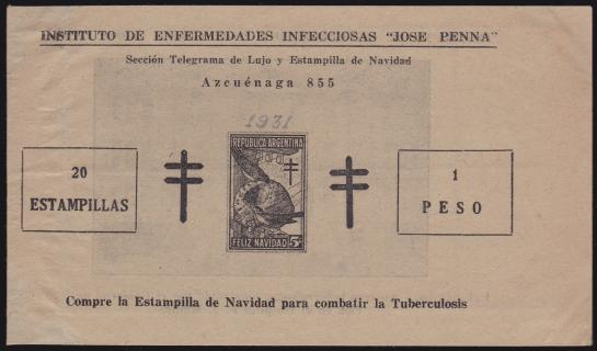 Argentina #101 1931 Booklet Cover