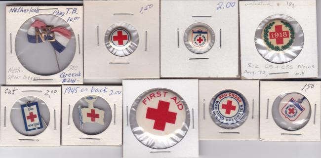 Red Cross Buttons