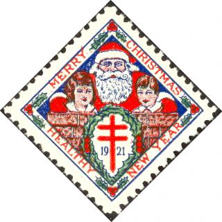 1921 type 1 Christmas Seal