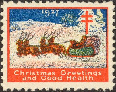 1927 type 1 Christmas Seal