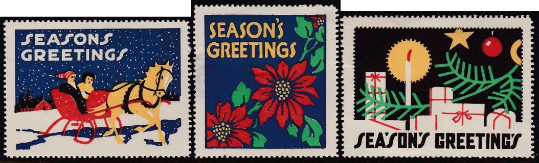 1914 Commercial Christmas Poster Stamps