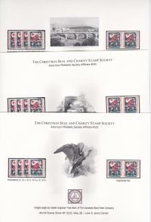 CS&CSS World Stamp Show, set of 3 souvenir cards