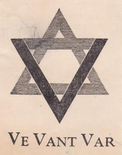 "Racist ""Ve Vant Var"" label issued by the German American Bund"
