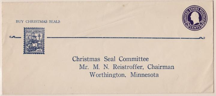 1932 Christmas Seal Envelope