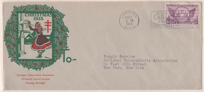 1935 Christmas Seal Envelope