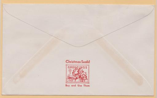 1937 Christmas Seal Envelope