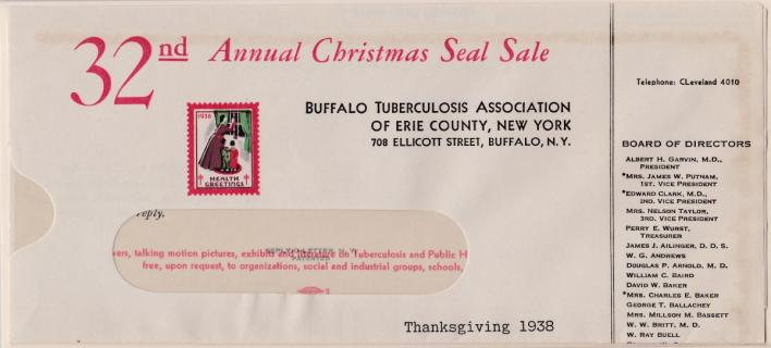 1938 Christmas Seal Envelope