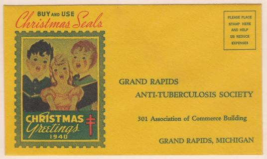 1940 Christmas Seal Envelope