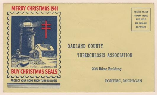 1941 Christmas Seal Envelope