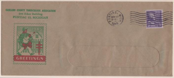 1945 Christmas Seal Envelope