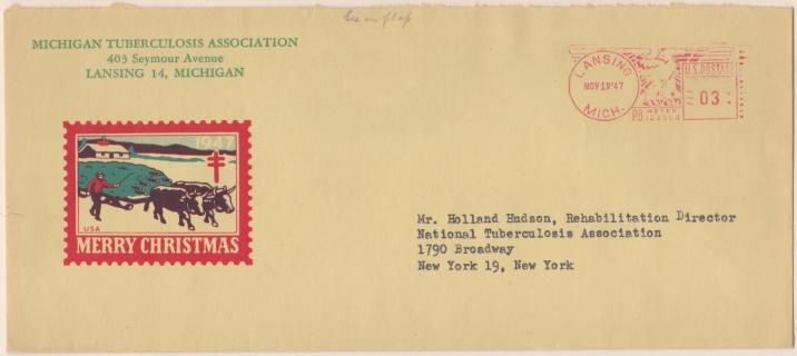 1947 Christmas Seal Envelope
