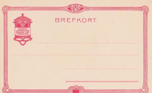 Early Swedish TB Postcard, back
