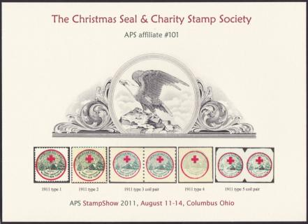 2011 Christmas Seal & Charity Stamp Society Souvenir Card
