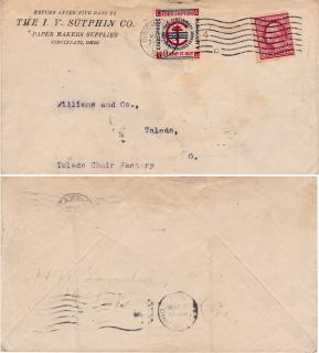 Rare Cincinnati US Local TB Tied on Cover