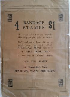 US Local TB, Green's # 5 Newspaper ad, 1918 China Relief, American Red Cross