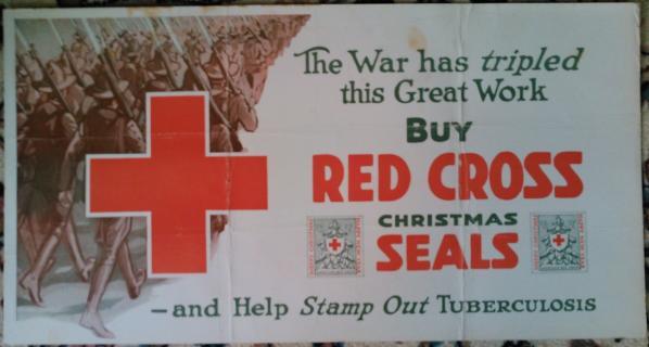 1917 Christmas Seal Poster