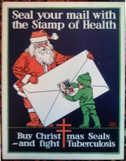 1920 Christmas Seal Poster