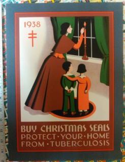 1938 Christmas Seal Poster