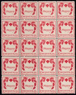 1907 Christmas Seal Block