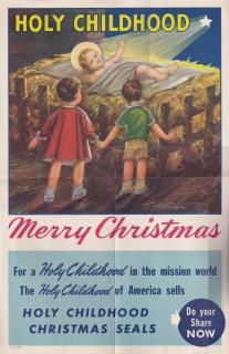 1943 Holy Childhood Christmas Seal Poster