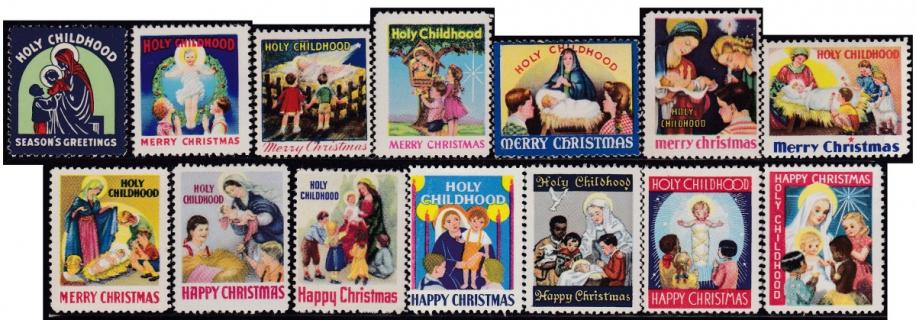 1941-54 Holy Childhood Christmas Seals