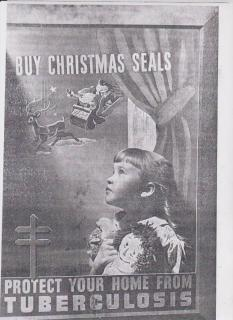 Gretchen Johnson 1943 Christmas Seal Model