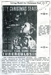 Joan Cahall 1943 model article