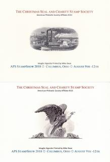 2018 Christmas Seal & Charity Stamp Society Souvenir Cards