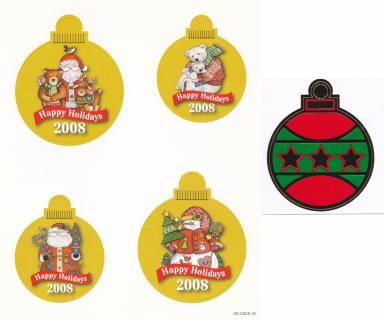 2008 ALA ornament punch out sheet, and sticker