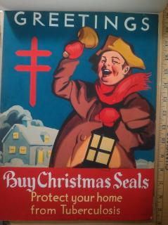 1937 Christmas Seal Original Poster Art