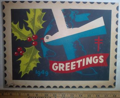 1949 Christmas Seal Original Art