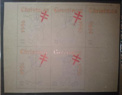 1956 Original Christmas Seal Art