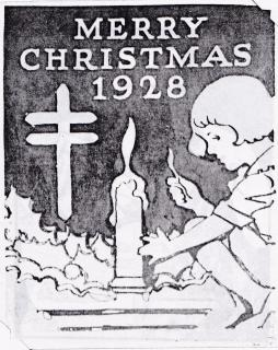 1928 Christmas Seal Original Art - Essay