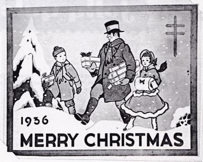 1936 Christmas Seal Original Art - Essay