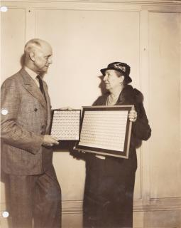 1936 publicity photo of Leigh Mitchell Hodges, and Emily P. Bissell