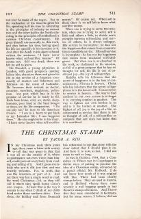 The Christmas Stamp, by Jacob A. Riis, July 6 1907 Outlook Magazine, page 1